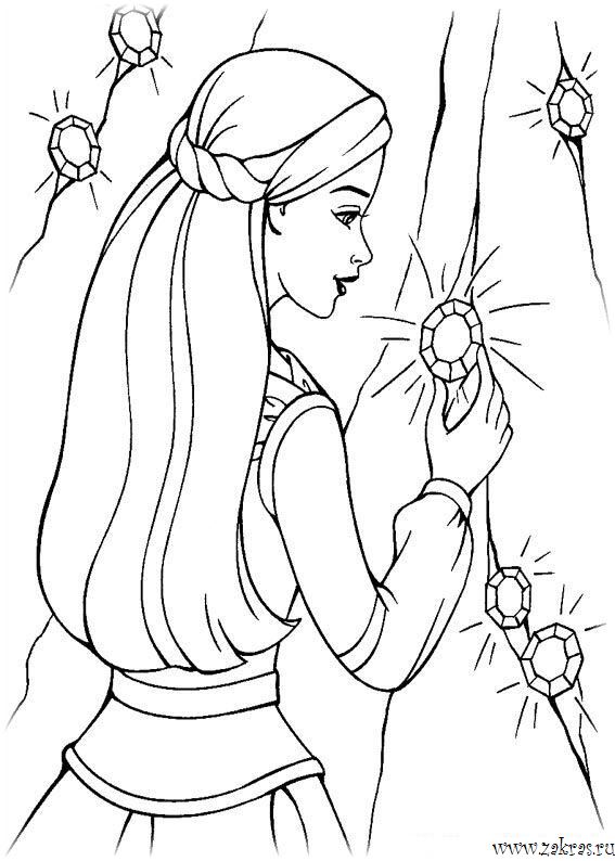 раскраски барби Barbie Coloring Pages