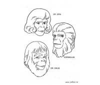 Раскраска Планета обезъян (Planet of the Apes Coloring Book)