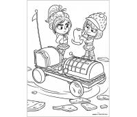 Wreck it ralph racers coloring pages