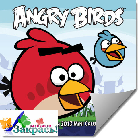 Раскраски Сердитые птицы (Angry Birds coloring pages)