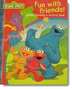 Улица Сезам - раскраски (Sesame Street Coloring Book - Fun with Friends)