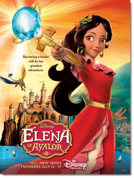 Раскраска Елена – принцесса Авалора (Elena of Avalor free coloring pages)